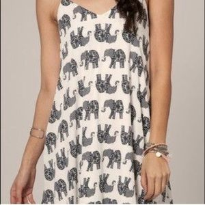 Black and White Elephant Beach Dress